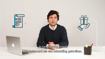 schenken of nalaten via een testament?